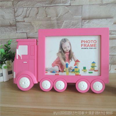 七寸火车创意塑料相框宝宝玩具摆台7寸儿童卡通相架影楼相框批发