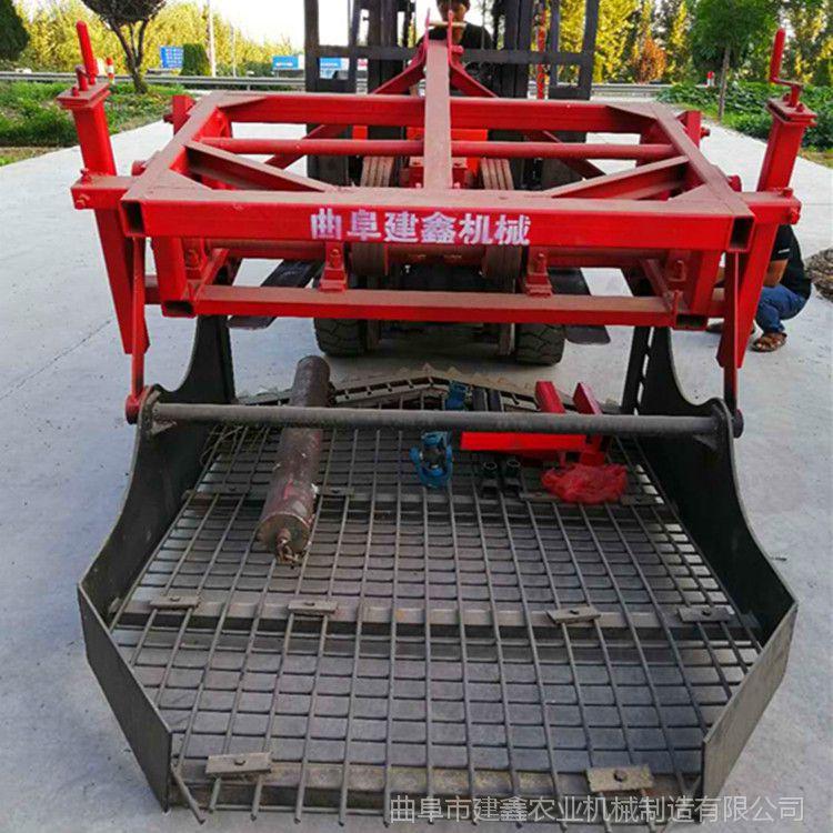 药材收获机现货直销高效柴胡收割机中药材起挖机链条挖掘机图片