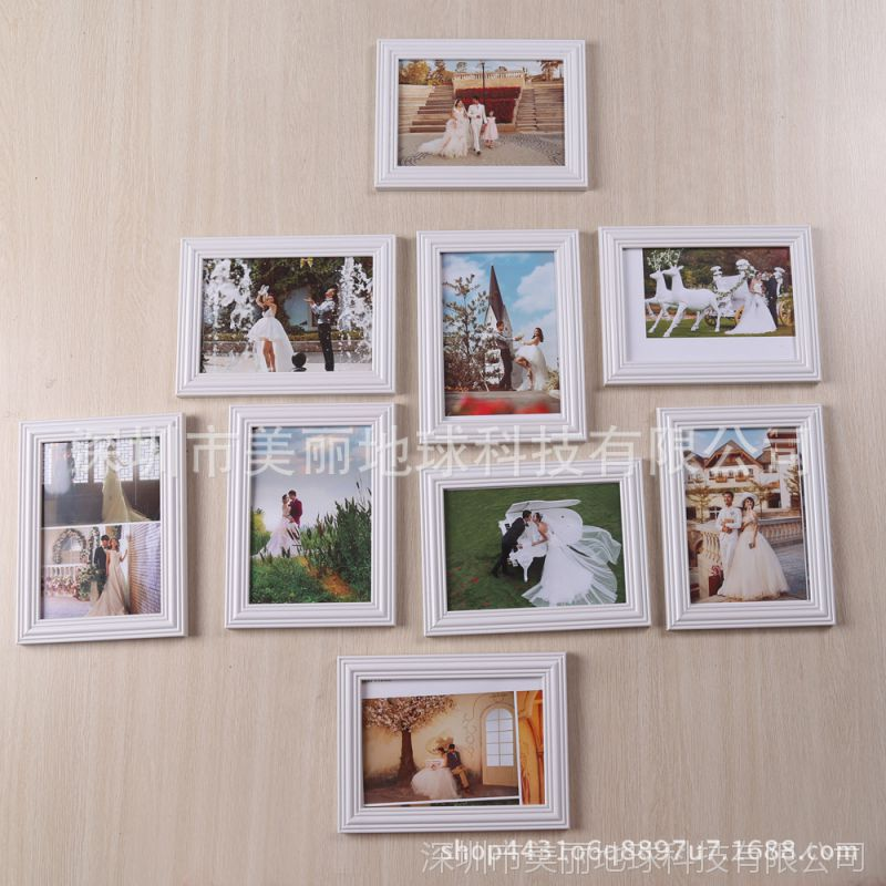 影楼创意相框挂墙摆台照片相框7寸相框制作批发油画框学习照片墙