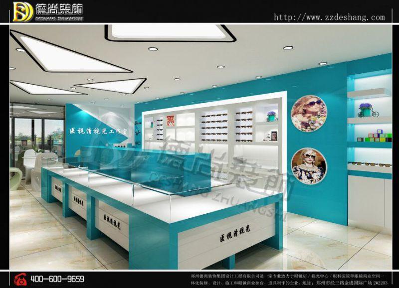 西安医视淸眼镜店安装现场眼镜展柜厂家