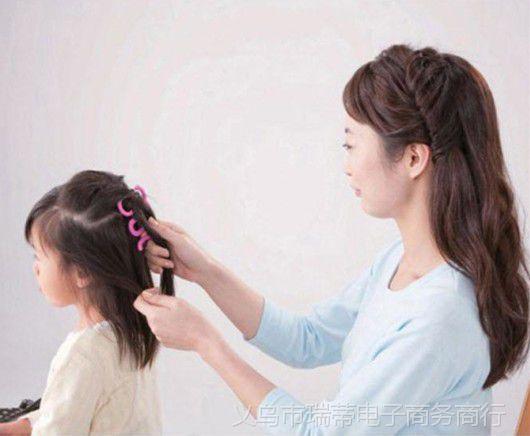 韩式美发编发器发型编发卡DIY美发发型发夹号图片卷发短发大小女鹅蛋脸图片