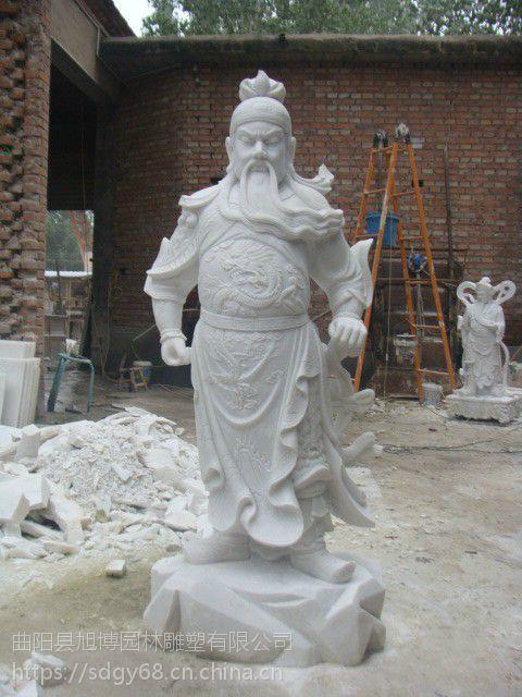 定做汉白玉关公韦驮,石雕佛像 韦驮菩萨佛教护法善神雕像