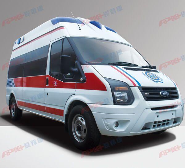 全顺v348长轴高顶监护型救护车——甘肃救护车厂家专卖
