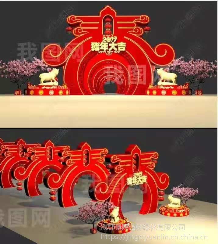 多色创意彩雕 主题雕塑仿真植物造型 花雕造型定制