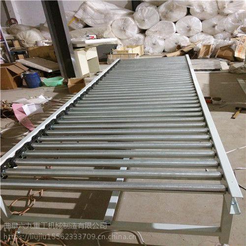 伸缩辊筒输送机碳钢喷塑 纸箱动力辊筒输送机福建