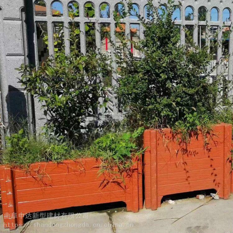 福安方形花箱 绿地生态仿木花箱 广场仿木围树凳