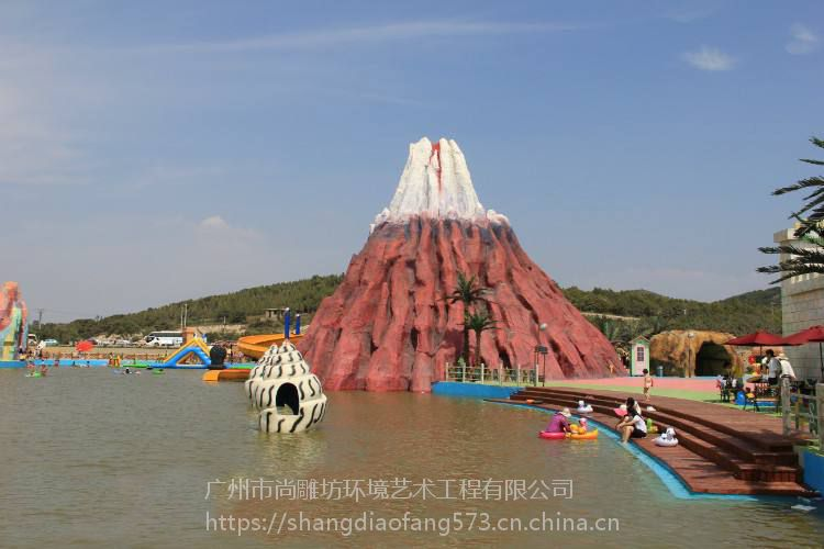 水泥直塑工艺主题乐园景观设计施工方案平面效果图3D场景建模