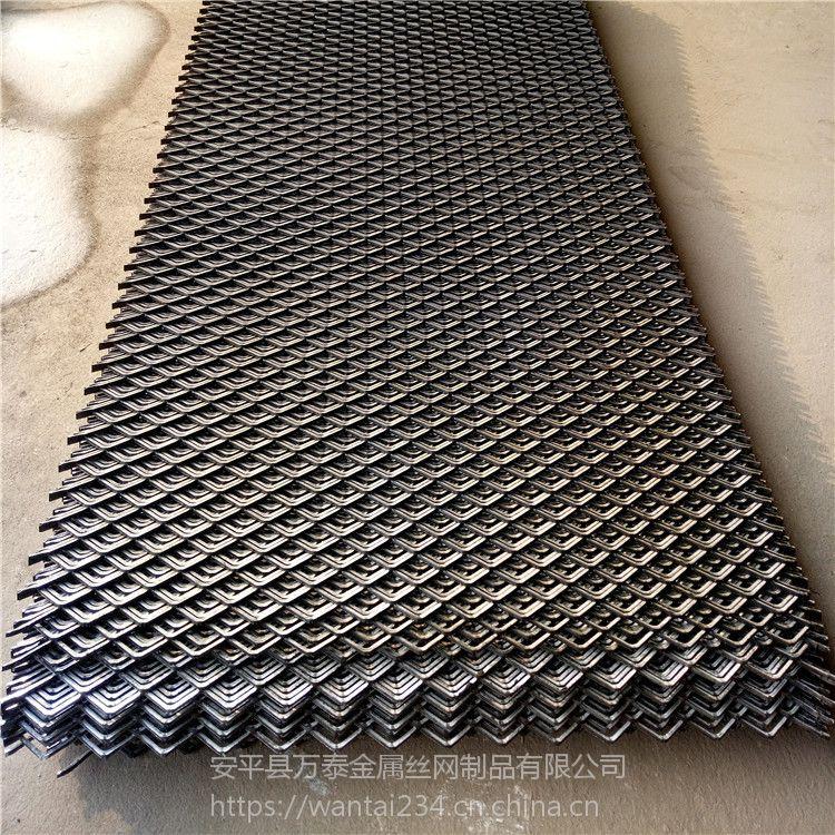 重型钢板网片 机械踩踏网 菱型防滑钢板网