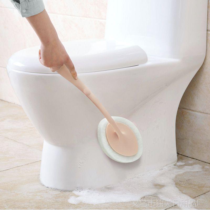 长柄多功能清洁海绵刷 家用刷锅厨房去污清洁刷瓷砖地砖浴室海绵