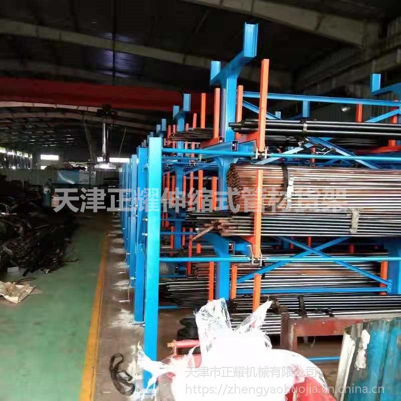 江苏钢材库存取设备 伸缩悬臂式货架图片 行车用货架