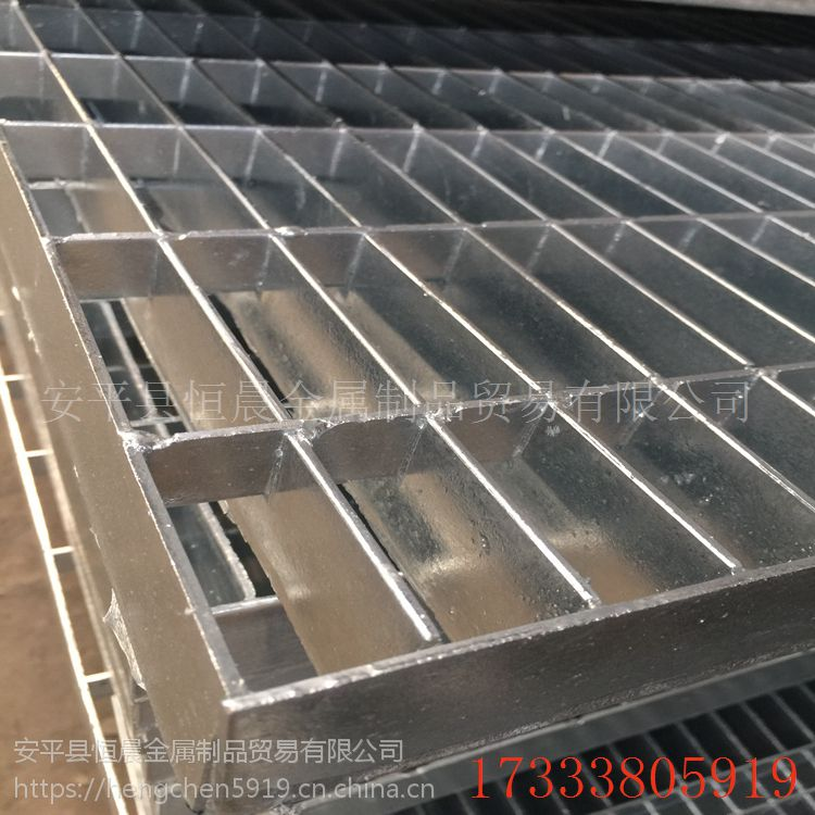 网格排水沟盖板 热镀锌钢格栅板 湖北排水沟盖板厂家定制