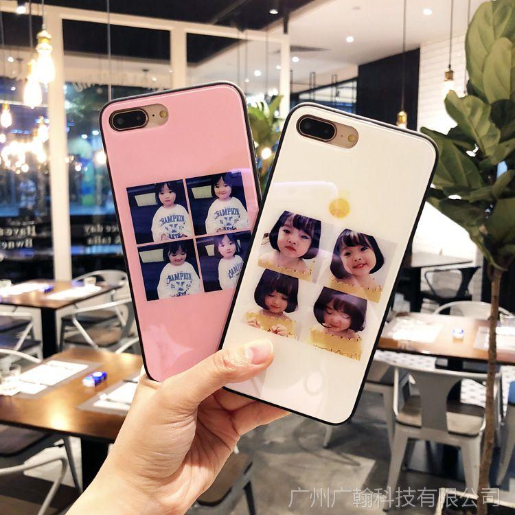 【权律二玻璃OPPO苹果手机壳镜面7表情iphamham仓鼠包表情文字图片