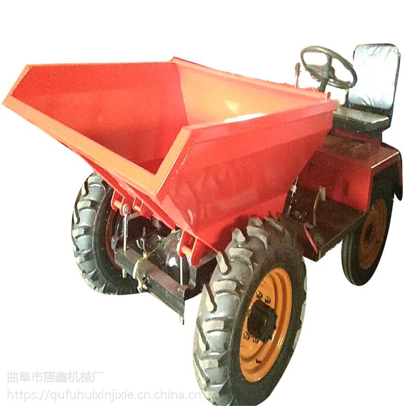 矿用大容量自卸四轮车 后轮驱动的前卸式翻斗车 海口果树施肥的运输车