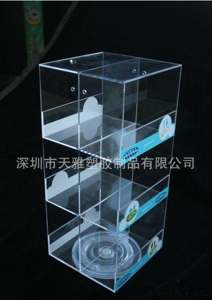 手机配件展示架 有机玻璃车充收纳盒