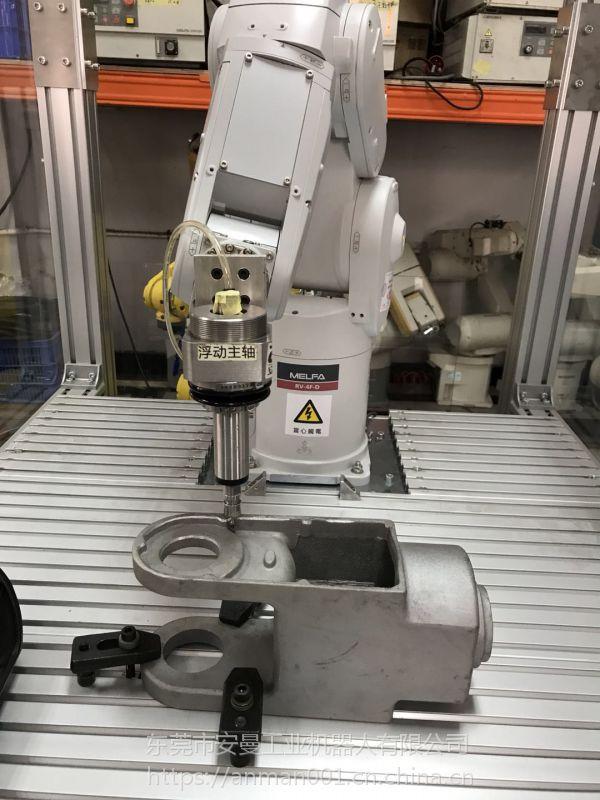 塑胶去毛刺去合模线机器人去毛刺浮动打磨头 曼德主轴MDA 1000