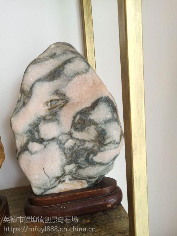 各种规格奇石摆件 天然石头摆件批发 天然彩石摆景