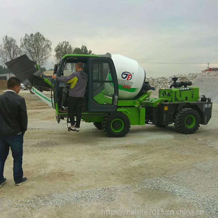 重庆2.4方泥土自动上料搅拌机生产厂家 新型移动混凝土搅拌车