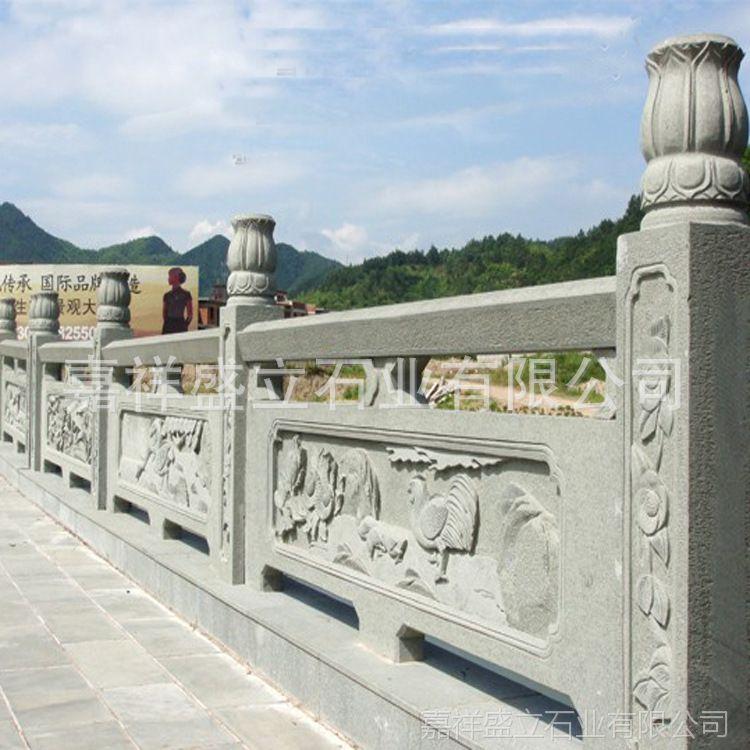 生产精雕石栏杆 大理石古建栏杆 景区水池栏杆护栏