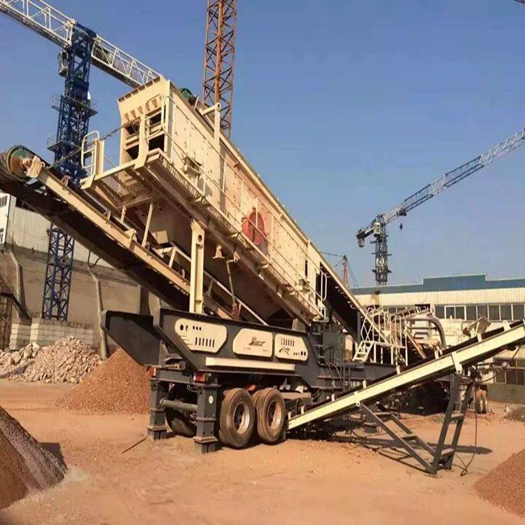 东营建筑垃圾破碎站 制沙生产线 混凝土水泥料碎石机