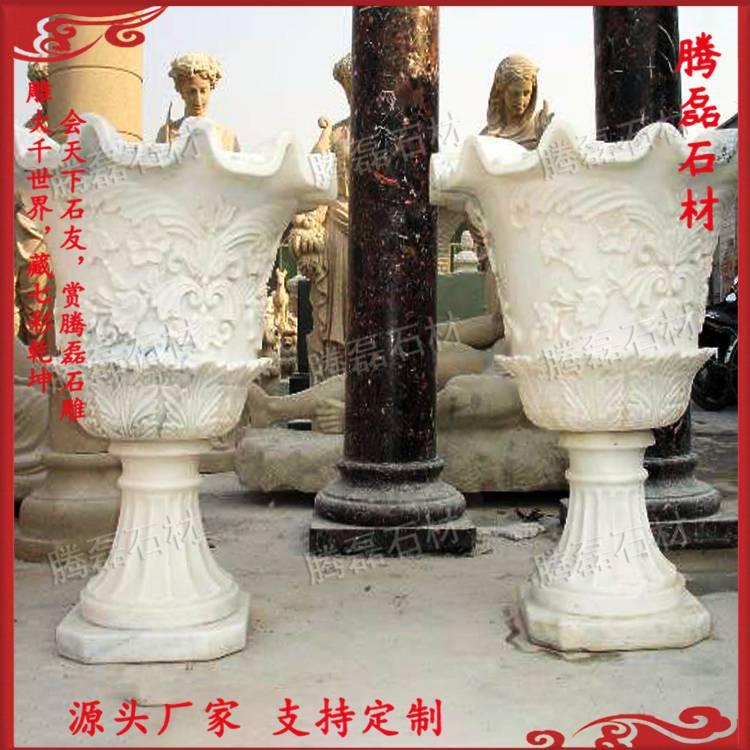 公园石雕花钵价格 惠安石雕花钵厂家