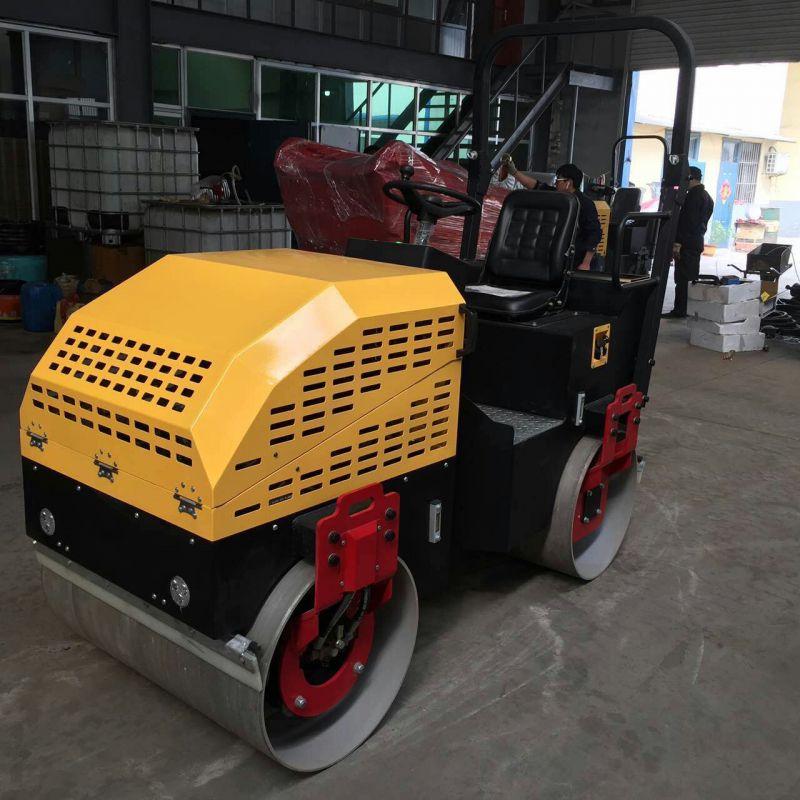厂家热卖1吨液压压路机 座驾式双钢轮压路机 小型振动压实机械