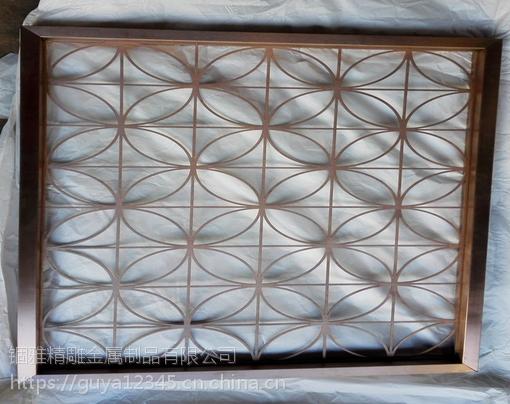 餐厅镀金不锈钢焊接屏风不锈钢激光镂空屏风