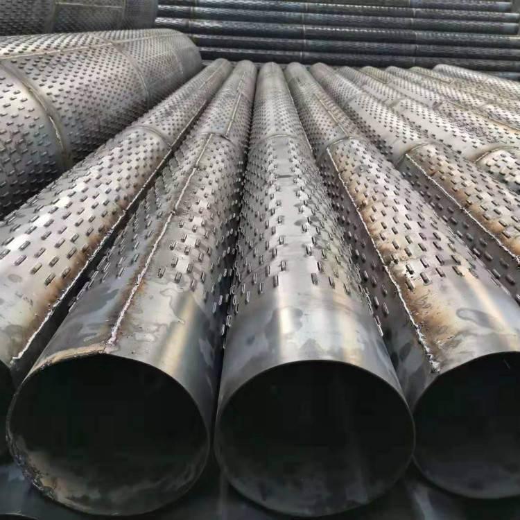 钢滤管273*4基础降水井管325*3mm螺旋桥式滤水管厂家