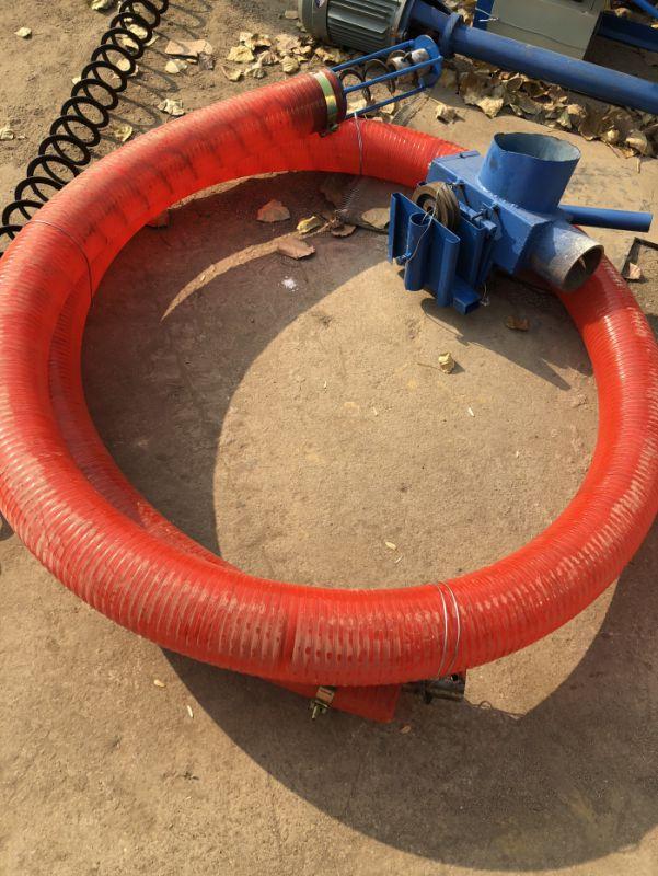 连粮食吸送上房吸粮机视频 软管抽粮泵工作图