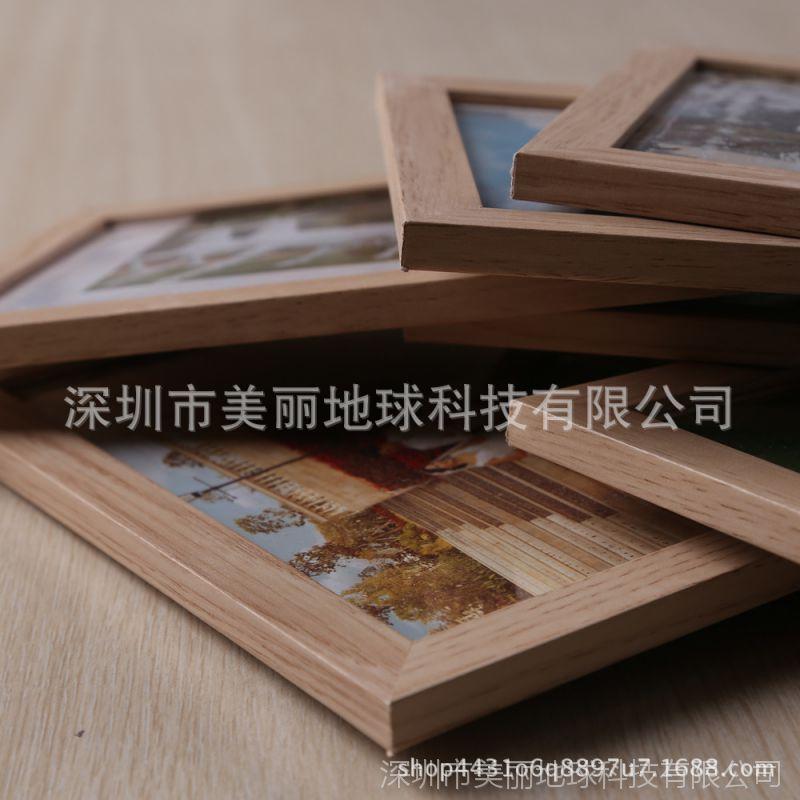 7寸欧式实木相框摆台防木纹 创意影楼照片框 家居装饰儿童木像框