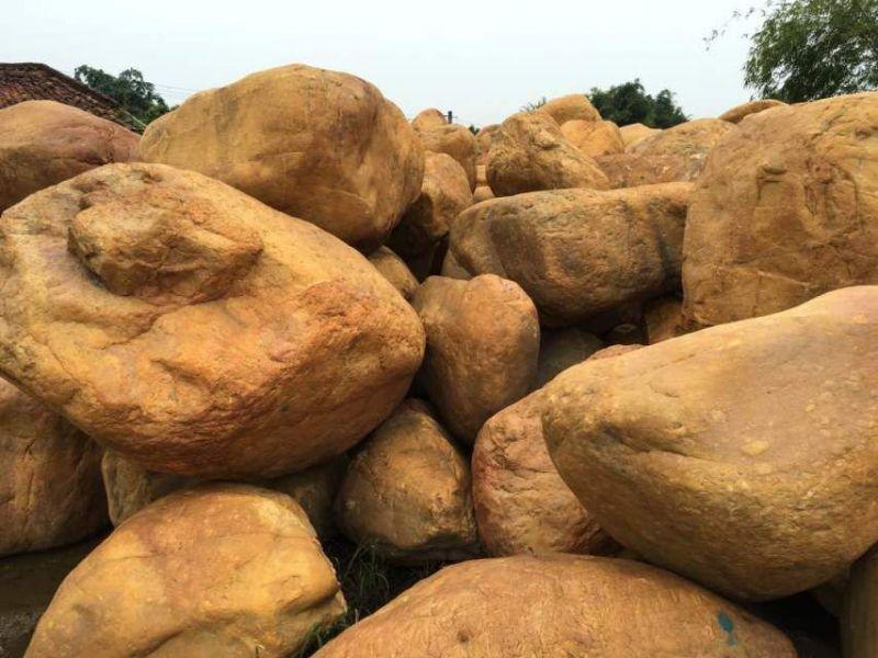 发住江苏的黄腊石,点缀,假山,公园使用