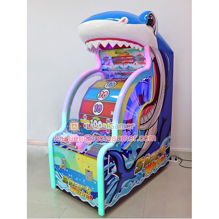 广东中山泰乐游乐儿童室内电玩鲨鱼转轮嘉年华游艺机