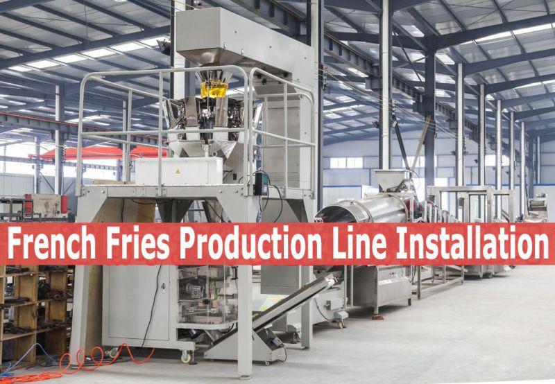 全自动速冻薯条生产设备生产线视频
