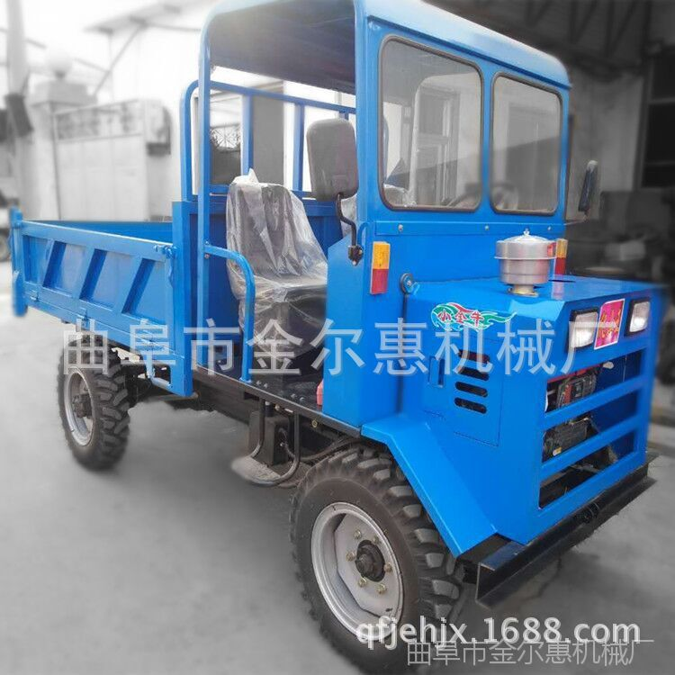 新型低矮型矿用四不像 井下拉矿运输车 自卸式四轮液压车
