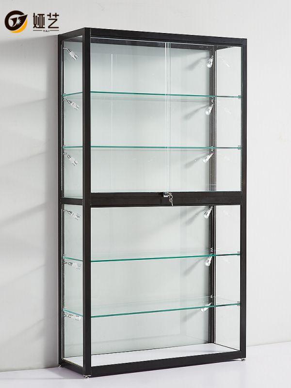 手办展示柜家用防尘透明玻璃展柜高达手办柜子乐高模型展柜