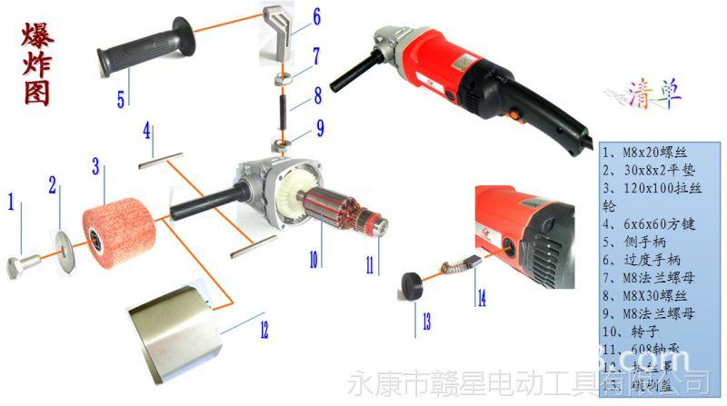 赣星厂家直销 多功能拉丝机 不锈钢抛光机 打磨机 6档调速110v220图片
