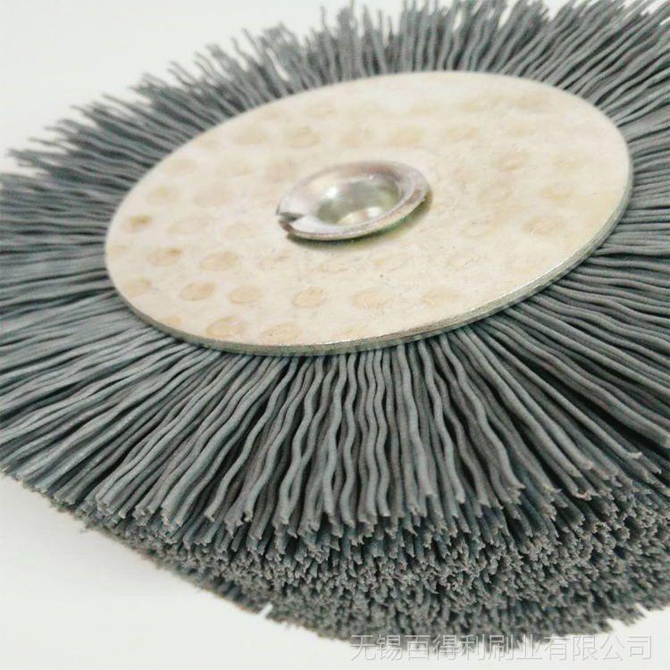 按需制作 圆盘刷工业刷 尼龙刷毛刷辊 厂家直销杆平刷 可定制