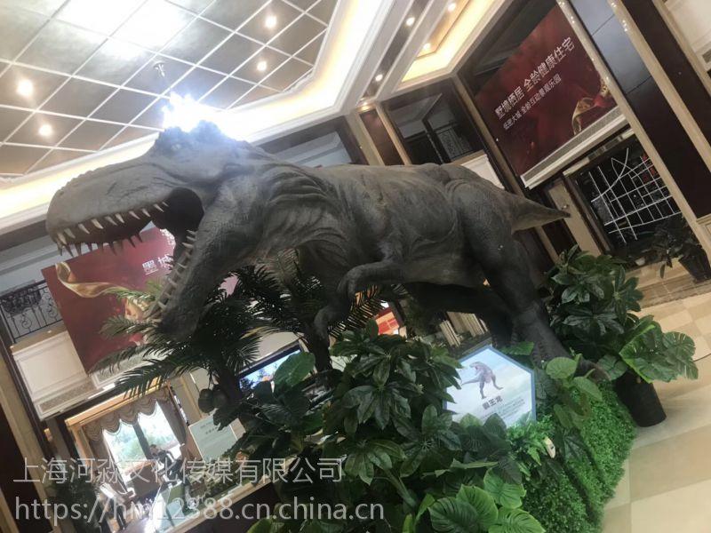 仿真爬行恐龙模型出租带动作带声10米霸王龙动物世界儿童益智
