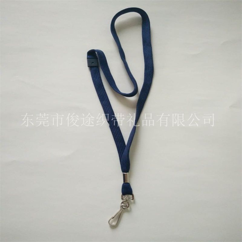 挂绳厂家销售环保带朱胆扣的安全扣PK带/走马带做厂牌挂带用