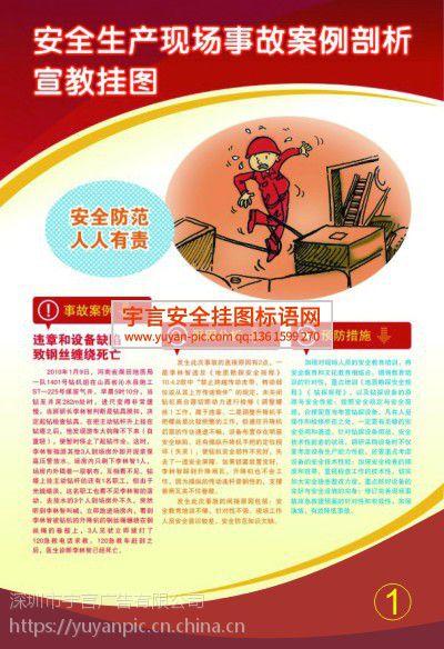 安全生产现场事故案例剖析宣教挂图 编号YU1771 规格50*70cm 数量6张/套