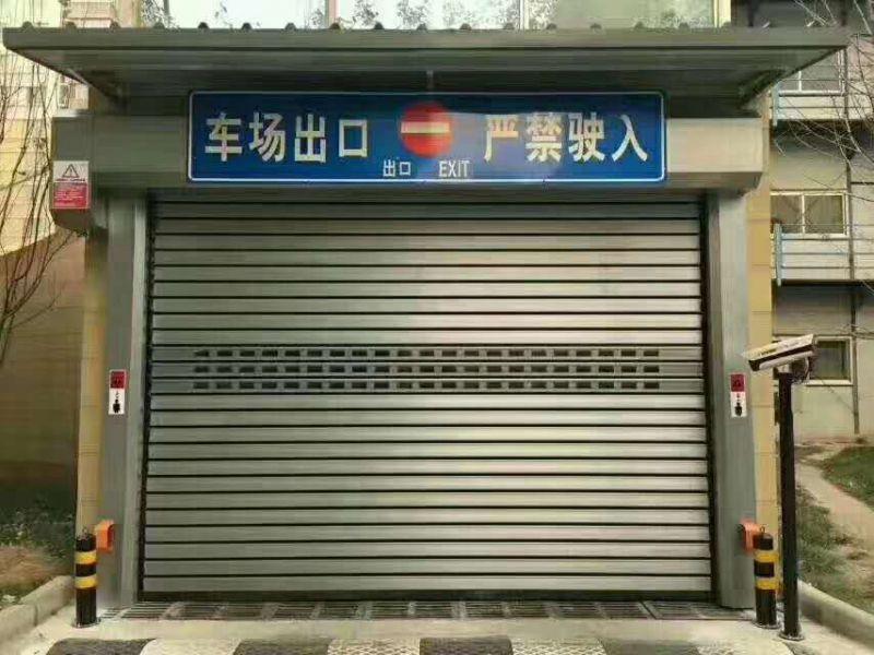 深圳滚筒铝合金快速门|电动车库门维修及安装