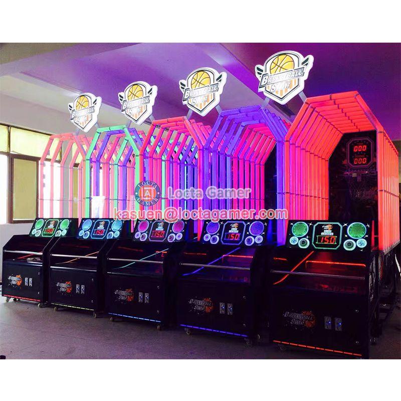 广东中山泰乐游乐儿童室内篮球投币电玩游乐射球机