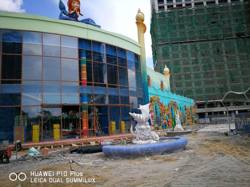 水泥直塑景观雕塑海洋主题乐园场景规划设计施工3D场景建模