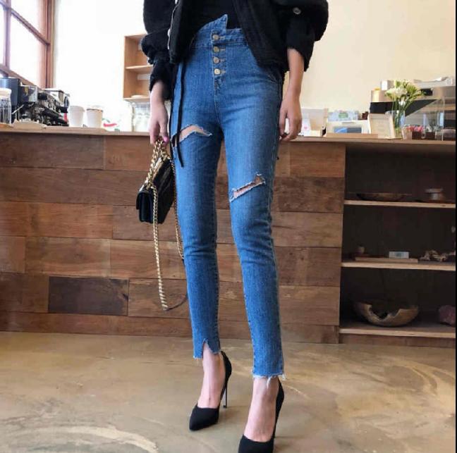 广州便宜裤子女士九分裤今年流行老爹裤工厂库存处理几元牛仔裤尾货批发