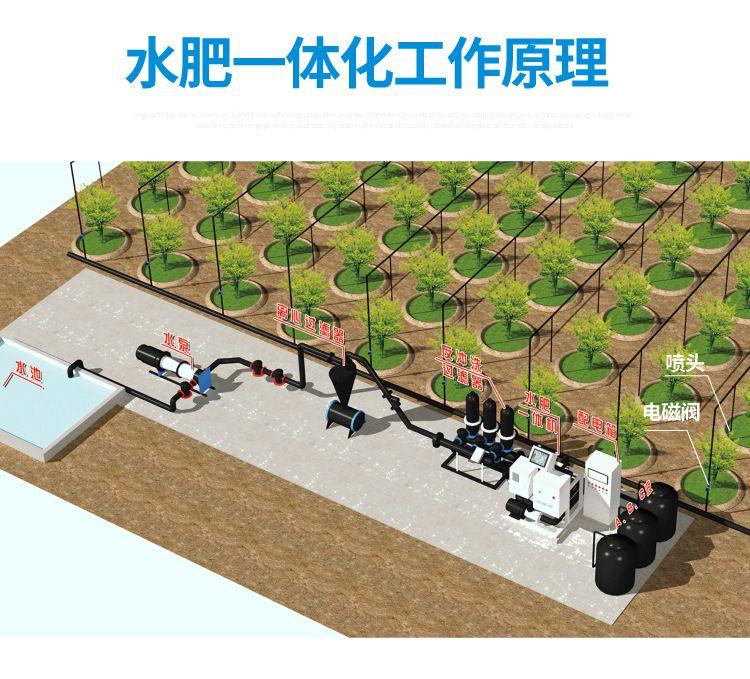 内蒙古热销自动灌溉施肥水肥一体化设备 智能三通道比例施肥机