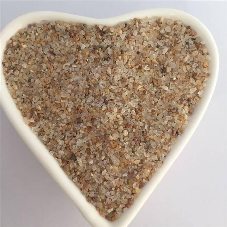 石英砂滤料 烘干黄色石英砂 硬度大 抗腐蚀性好
