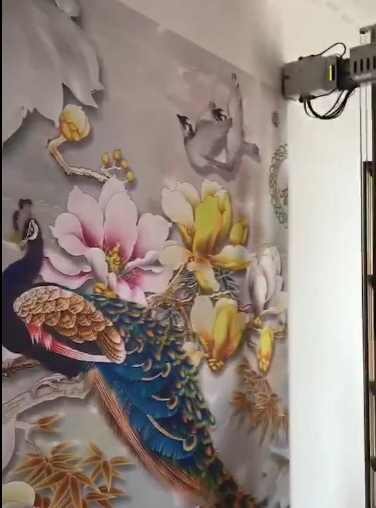 3D墙体彩绘机 5D墙体喷画设备厂家