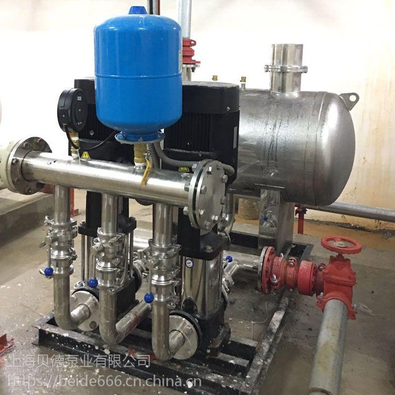 上海厂家SXBWP100/2-12/2-0.6无负压生活(消防)变频恒压给水设备,稳流罐节能环保定制