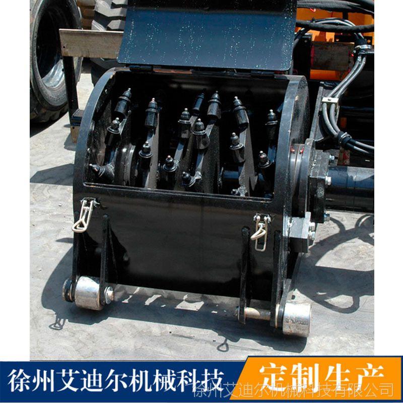60公分小型铣刨机-山猫凯斯滑移属具 沥青路面养护施工机械