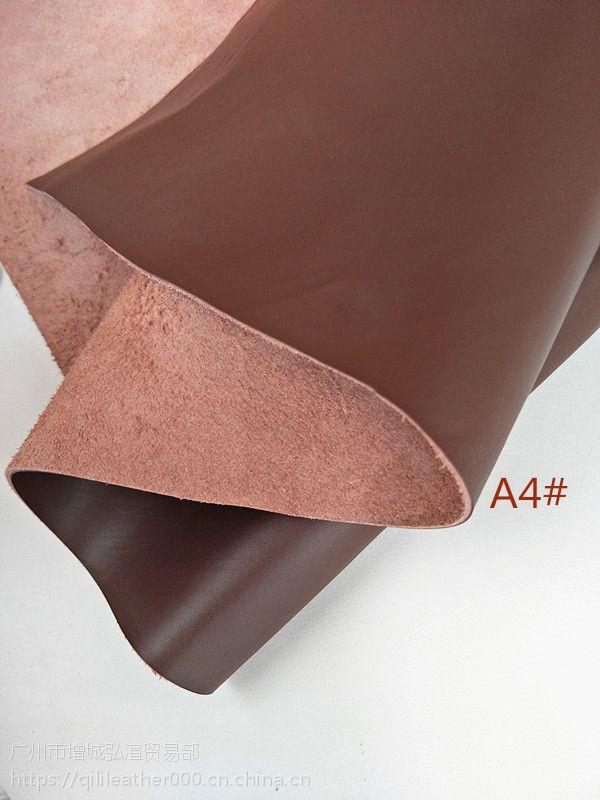 批发二层牛皮荔枝纹深棕色箱包皮带皮饰品牛皮革二层皮料