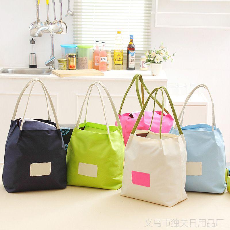 爱奇 厂家批发纯色水桶型收纳袋休闲帆布手机证件保温袋购物袋